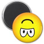 Upside down emoticon   fridge_magents_magnet