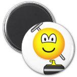 Curling emoticon   fridge_magents_magnet