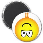 Bat emoticon hanging  fridge_magents_magnet