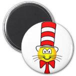 Cat in the hat emoticon   fridge_magents_magnet