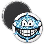 Snowflake smile   fridge_magents_magnet
