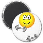 Dumbbells emoticon Free weight training  fridge_magents_magnet