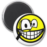 Magnifying glass smile Looking through  fridge_magents_magnet