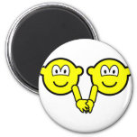 Holding hands buddy icons   fridge_magents_magnet