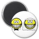 Married smile bride and groom  fridge_magents_magnet