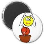 Dutch milk maid buddy icon   fridge_magents_magnet