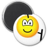 Tonfa emoticon martial arts  fridge_magents_magnet