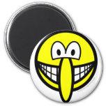 Big nosed smile   fridge_magents_magnet