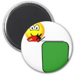 Hedge trimmer emoticon   fridge_magents_magnet