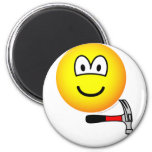 Hammer and nail emoticon   fridge_magents_magnet
