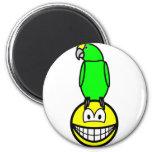 Parrothead smile   fridge_magents_magnet