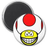 Toad smile video game  fridge_magents_magnet
