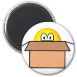 Cardboard boxed emoticon   fridge_magents_magnet