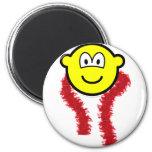 Feathered boa buddy icon   fridge_magents_magnet