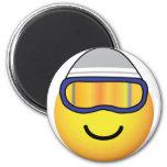 Skier emoticon   fridge_magents_magnet