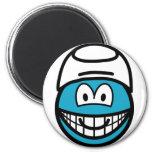 Smurf smile   fridge_magents_magnet