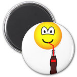 Drinking emoticon   fridge_magents_magnet