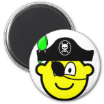 Pirate with parrot buddy icon   fridge_magents_magnet