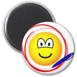 Circled emoticon Marked  fridge_magents_magnet