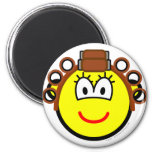 Curling buddy icon Permed  fridge_magents_magnet
