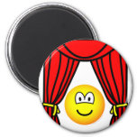 Theater emoticon stage curtains open  fridge_magents_magnet