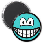 Colored smile azure  fridge_magents_magnet