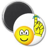 Reminder emoticon string around finger  fridge_magents_magnet