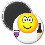 Wine drinking emoticon   fridge_magents_magnet