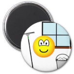 Window cleaner emoticon   fridge_magents_magnet