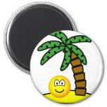 Desert island emoticon   fridge_magents_magnet