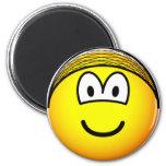 Hairnet emoticon   fridge_magents_magnet