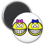 Twins smile   fridge_magents_magnet