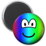 Rainbow emoticon Colours  fridge_magents_magnet
