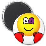 Boxing emoticon Black eye  fridge_magents_magnet