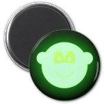 Glow in the dark buddy icon   fridge_magents_magnet