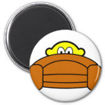 Scared buddy icon Hiding behind couch  fridge_magents_magnet