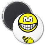Paper smile rock - paper - scissors  fridge_magents_magnet