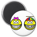 Brother and sister smile   fridge_magents_magnet