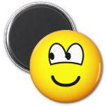 Looking left emoticon   fridge_magents_magnet