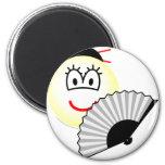 Geisha emoticon   fridge_magents_magnet