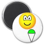 Snowcone eating emoticon   fridge_magents_magnet
