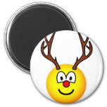 Rudolph the red nosed reindeer emoticon   fridge_magents_magnet