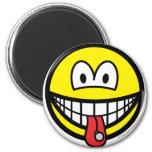 Tongue stud smile   fridge_magents_magnet