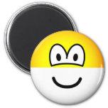 Half full emoticon Optimist  fridge_magents_magnet