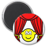 Theater buddy icon stage curtains open  fridge_magents_magnet