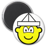Paper hat buddy icon   fridge_magents_magnet