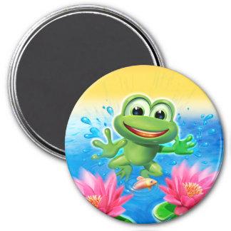 Fridge Magnet Leaping frog design