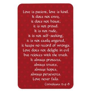 Fridge Magnet, Love is Patient (Corinthians) Magnet