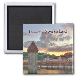 Fridge Magnet Lucerne Switzerland Chapel Bridge