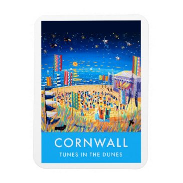Beach Themed Fridge Magnet of Perranporth Beach festival